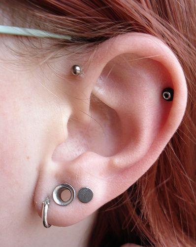 Forward helix piercing. Happening.: Forward Helix Piercing, Ears Gauges, Small Gauges, Tattoo Piercing, Body Modifications, Tattoos Piercing, Earrings Gauges, Ears Piercing, Amazing Piercing
