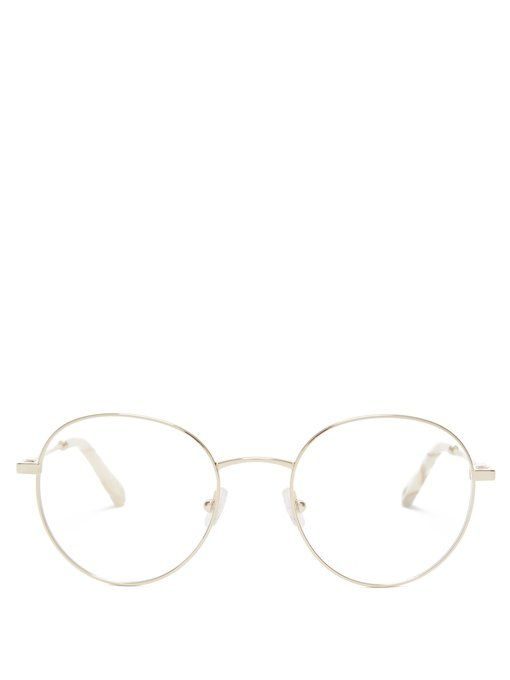 1c3a8d4d65f CHLOÉ CHLOÉ - ROUND FRAME GLASSES - WOMENS - LIGHT GOLD.  chloé ...
