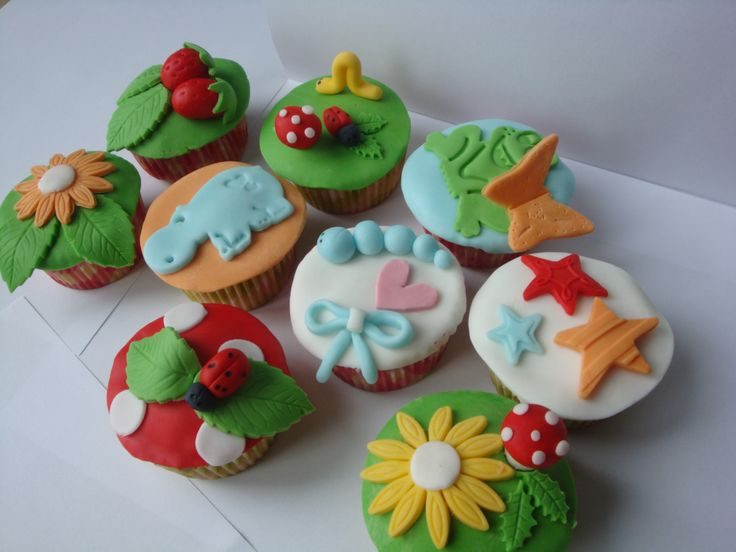 mijn zomerse cupcakes! Mmm...