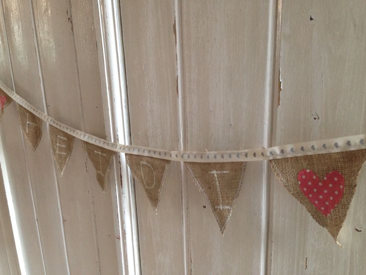 Birthday bunting made by Chloe for my beautiful cousins :) hemp and ribbon with sewing machine letters.