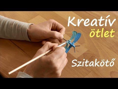 Kreatív ötlet: Szitakötő termésből