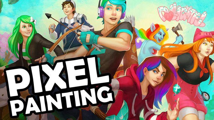 Pixel Painting Minecraft Youtubers: Chad Alan Dollastic JH Audrey SallyGreenGamer EXORandy Cyb3rn0va - YouTube