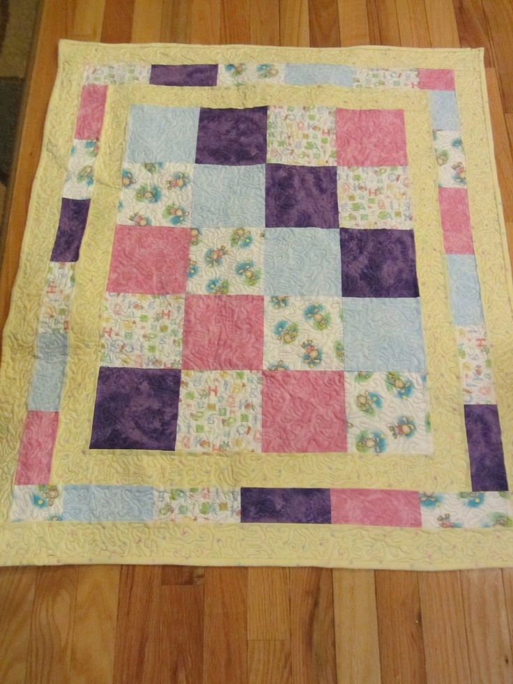 A Sweet Gender Neutral Baby Quilt Quilting Pinterest