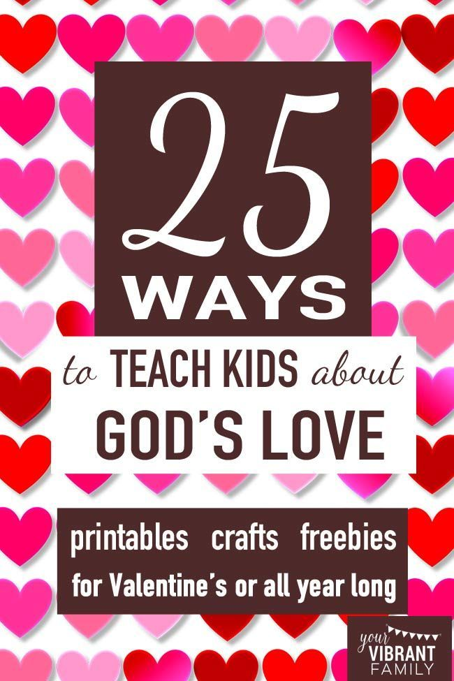 We ALL want our kids to know how much they're loved by God, right?! Don't miss this awesome collection of printables and crafts (many of them FREE!) for teaching kids about God's love! You'll refer to this awesome list over and over again!