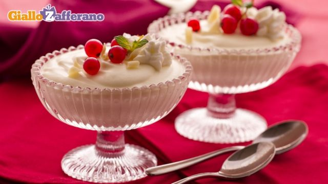 white chocolate mousse...