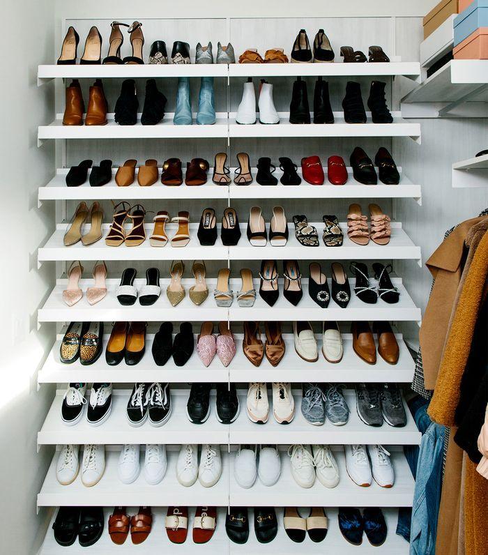 5 Useful Organization Tricks I Learned From Designing My Dream Closet Closet Shoe Storage Shoe Shelf In Closet Custom Closet Design