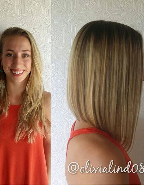 21 Eye-catching A-line Bob Hairstyles: #3. Straight A-line lob