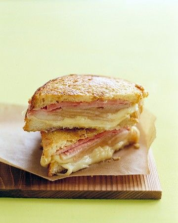 Grilled Ham and Cheese with Pears: Sandwiches, Pear Recipes, Ham And Cheese, Food, Grilled Hams, Hams And Cheese, Grilled Cheese, Pears Recipes, Martha Stewart