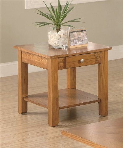 Casual End Table by Coaster by Coaster Home Furnishings. $117.84. Made from oak veneers, these occasional tables will make the perfect addition to your room. Coffee table features a lift top for convenient use.