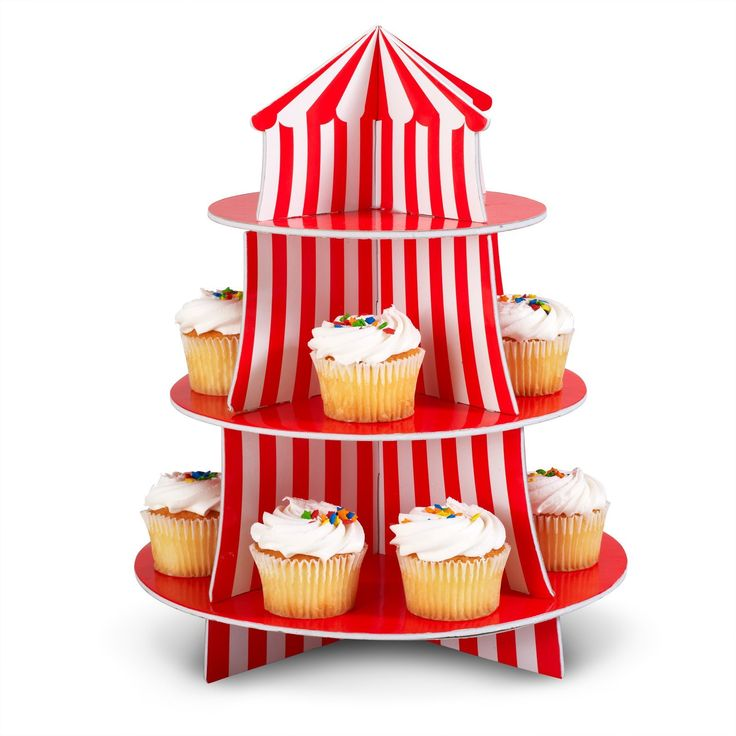 Amazon.com: Big Top Cupcake Holder Set Party Accessory: Toys & Games