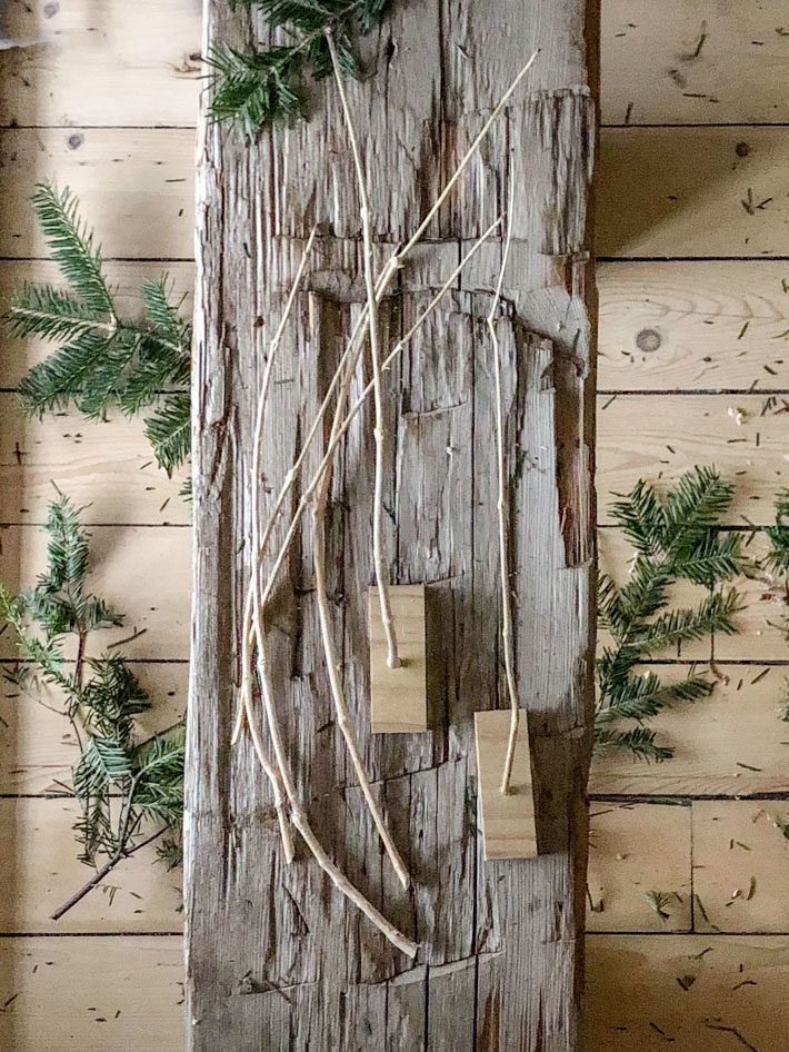 Make A Weather Stick Out Of Your Christmas Tree Christmas Tree Stick It Out Tree