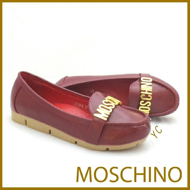 Moschino Shoes 4797  3cm Red 35 150rb