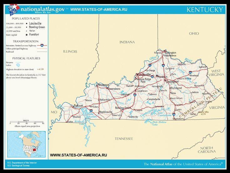 Карта дорог Кентукки