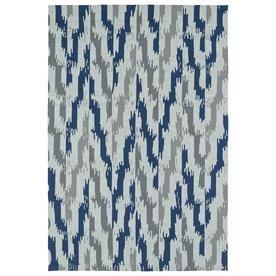 Kaleen Habitat Blue Rectangular Indoor/Outdoor Handcrafted Southwestern Area Rug (Common: 10 X 14; Actual: 10-Ft W X 14-
