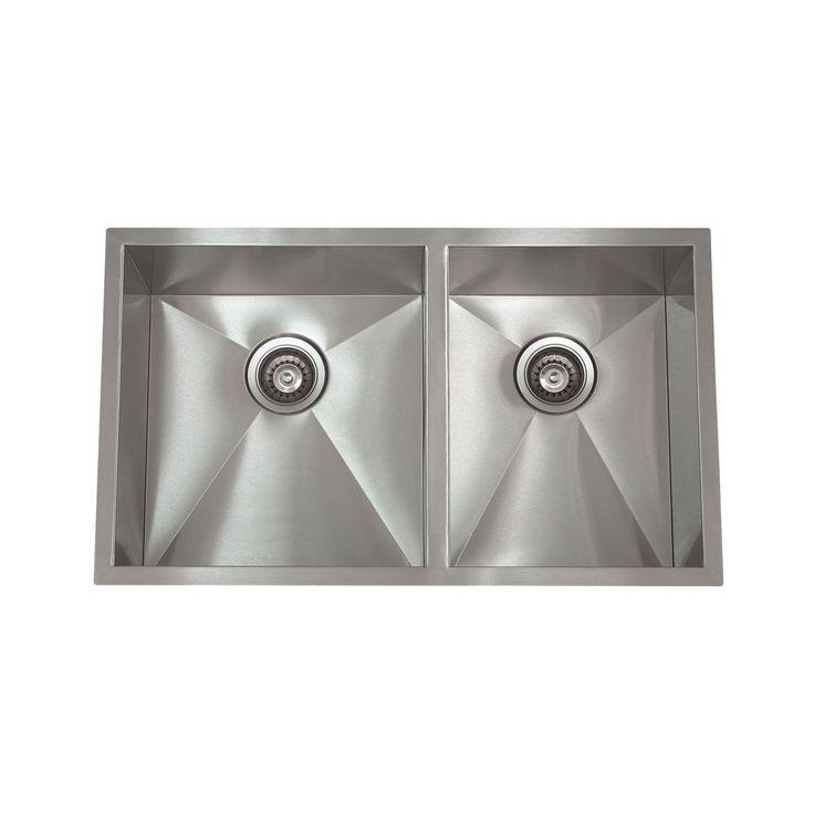 Apogee Zero Radius Satin Stainless Steel Silver 32 Inch X 19