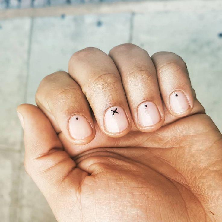 Clear Nail Designs, Creative Nail Designs, Black Nail Designs, Creative Nails, Nail Art Designs, Men Nail Polish, Mens Nails, Brad Nails, School Nails