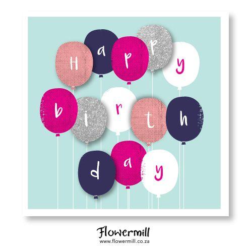 Happy Birthday Balloons www.flowermill.co.za
