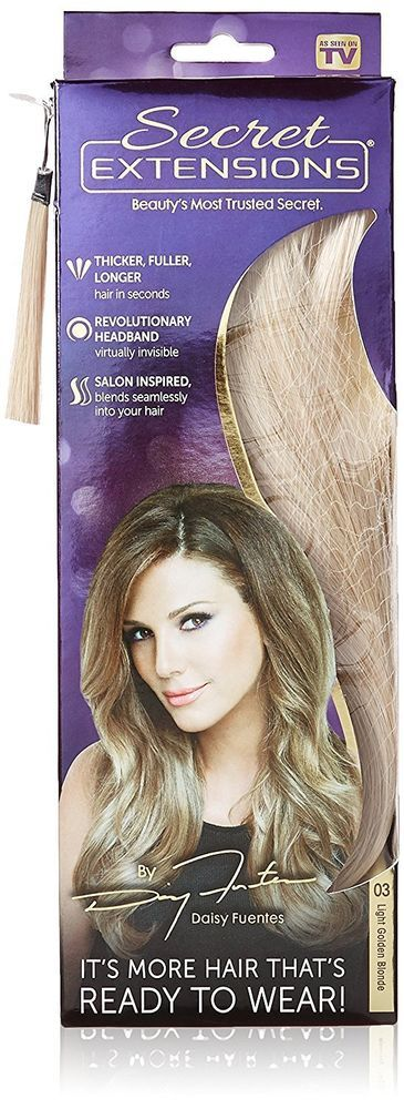 Secret Extensions Hair Extensions Daisy Fuentes, Light Golden Blonde Styling New #SecretExtensions #Hairband