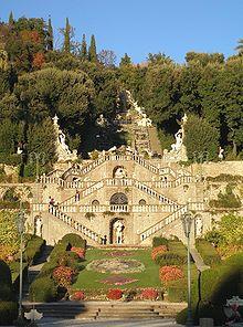 A typical Italian garden at Villa Garzoni, near Pistoia