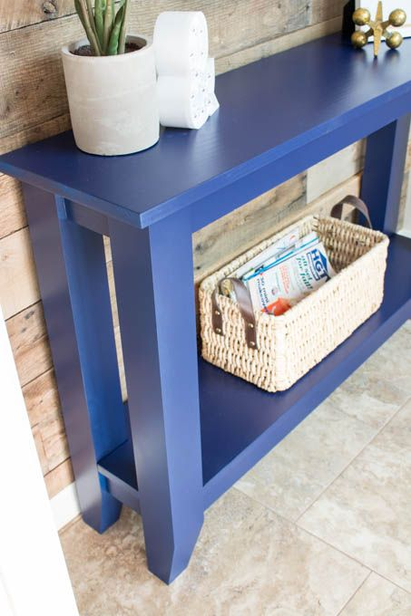 DIY Narrow Hallway Table   Plus Free Plans