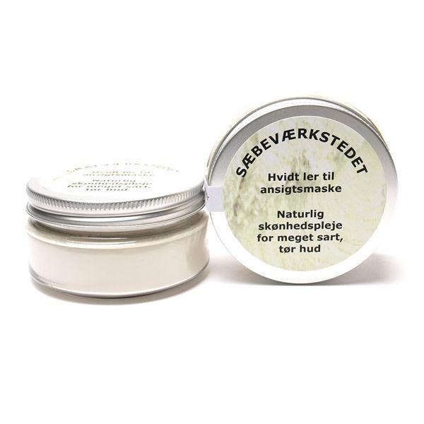 Sæbeværkstedet Hvidt ler til tør hud kr. 75,-