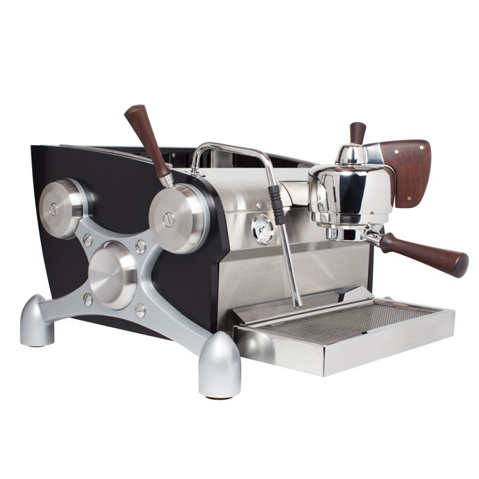 Totally rad machine. Can get custom colored.  Clive Coffee: Slayer 1-Group Espresso Machine