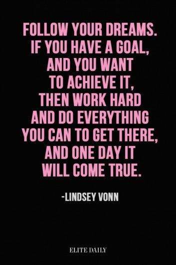 Skiester Lindsey Vonn - Inspirerende quotes van vrouwelijke topsporters - Nieuws - Lifestyle