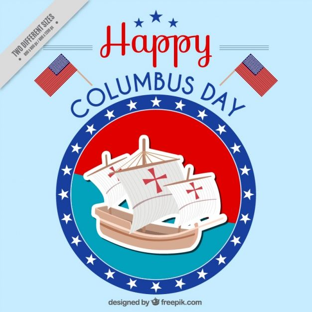 Download Happy Columbus Day Background For Free Happy Columbus Day Columbus Day Vector Free