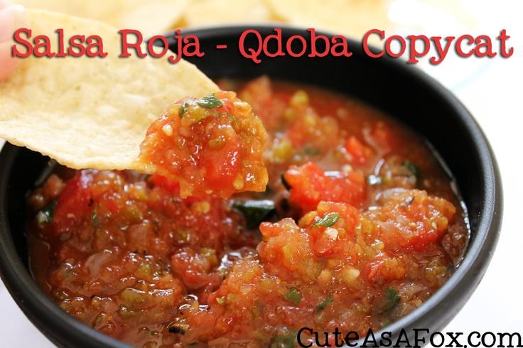 Salsa Roja - Qdoba Copycat recipe. Delicious fresh salsa.