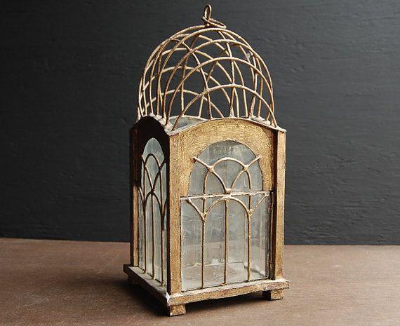 Art Deco Candle Lantern - for centerpieces?
