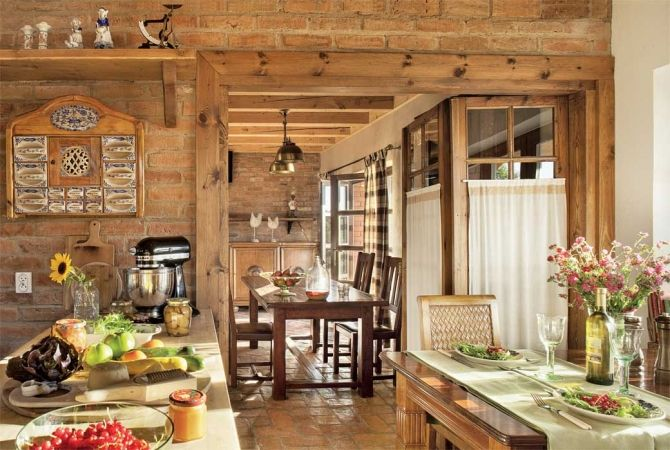 Cottage decor: Kitchen-diner | via Weranda Country.pl