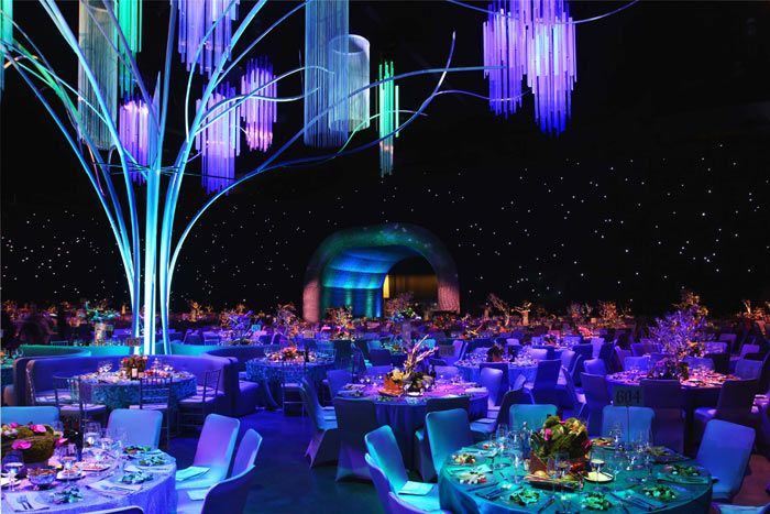 Mood lighting at its finest: Inside the Governors Ball and its impressive lighting display for the Oscars!