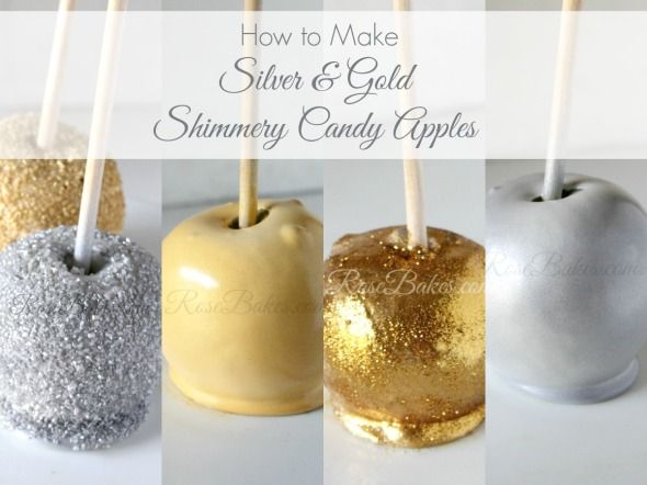 How to Make Silver & Gold Shimmery Candy Apples Tutorial