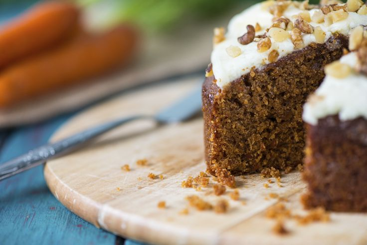 Though carrot cake sounds healthier than most desserts, it's notorious for being very high in calories and fat. This version uses a fraction of the oil usually called for and just a light coating of frosting. Nutrition: 241 calories, 4 g protein, 2 g fibre per serving.