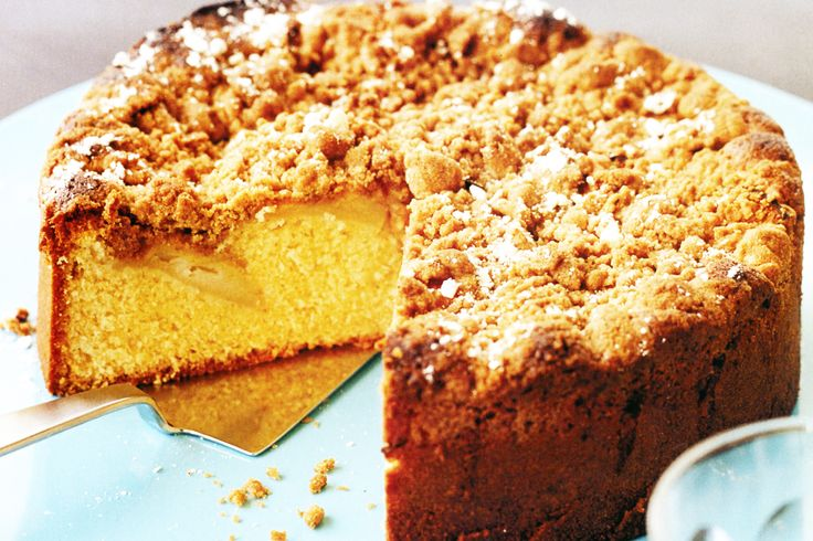 Fill the house with the beautiful aroma of freshly baked apple tea cake, then slice and enjoy!