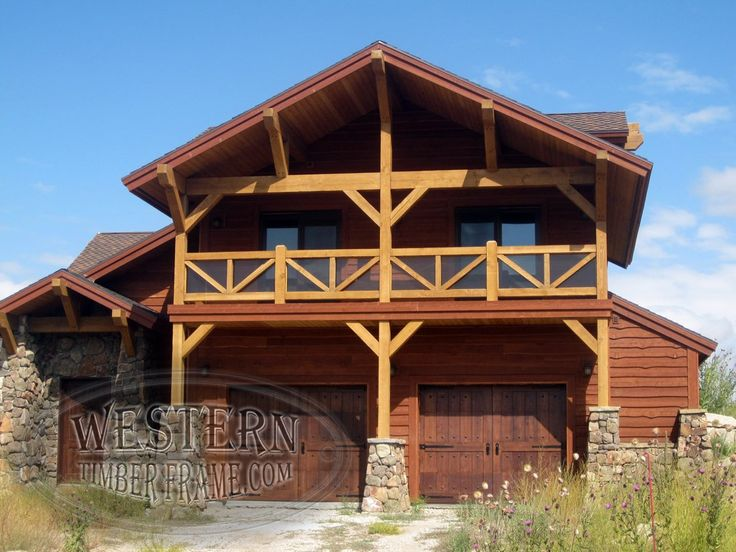 Timber Trusses Beamwork And Exterior Siding Covered