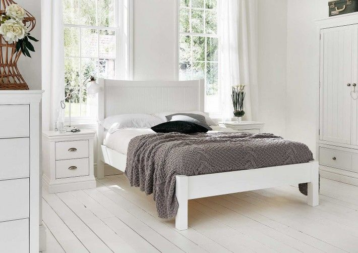 Camden White Wooden Bed Frame