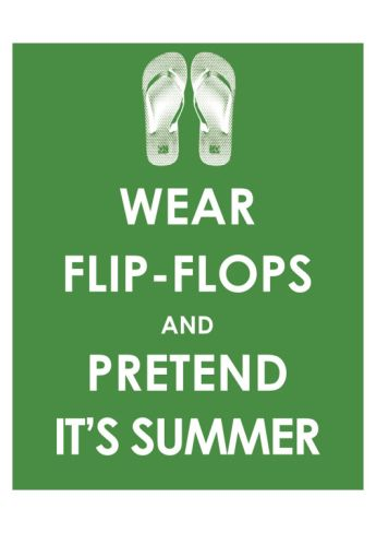 Wear Flip Flops and Pretend it's Summer. Art.com