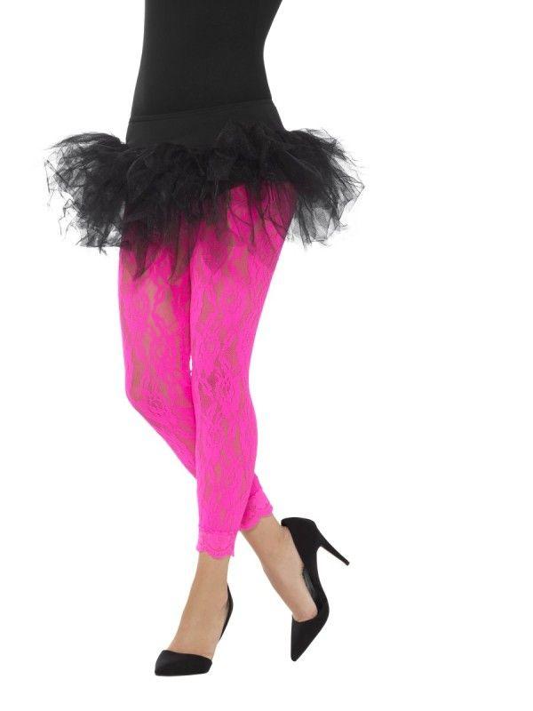 Black Lace Bow on Headband 80s Fancy Dress Accessory Dance Fame Madonna
