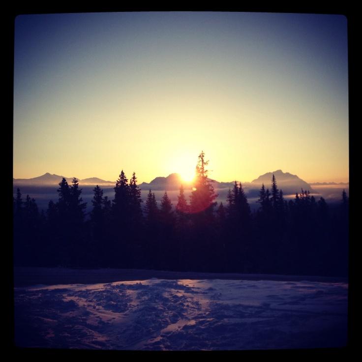 Sunrise over the Rockies, Marmot Basin, Jasper, Canada