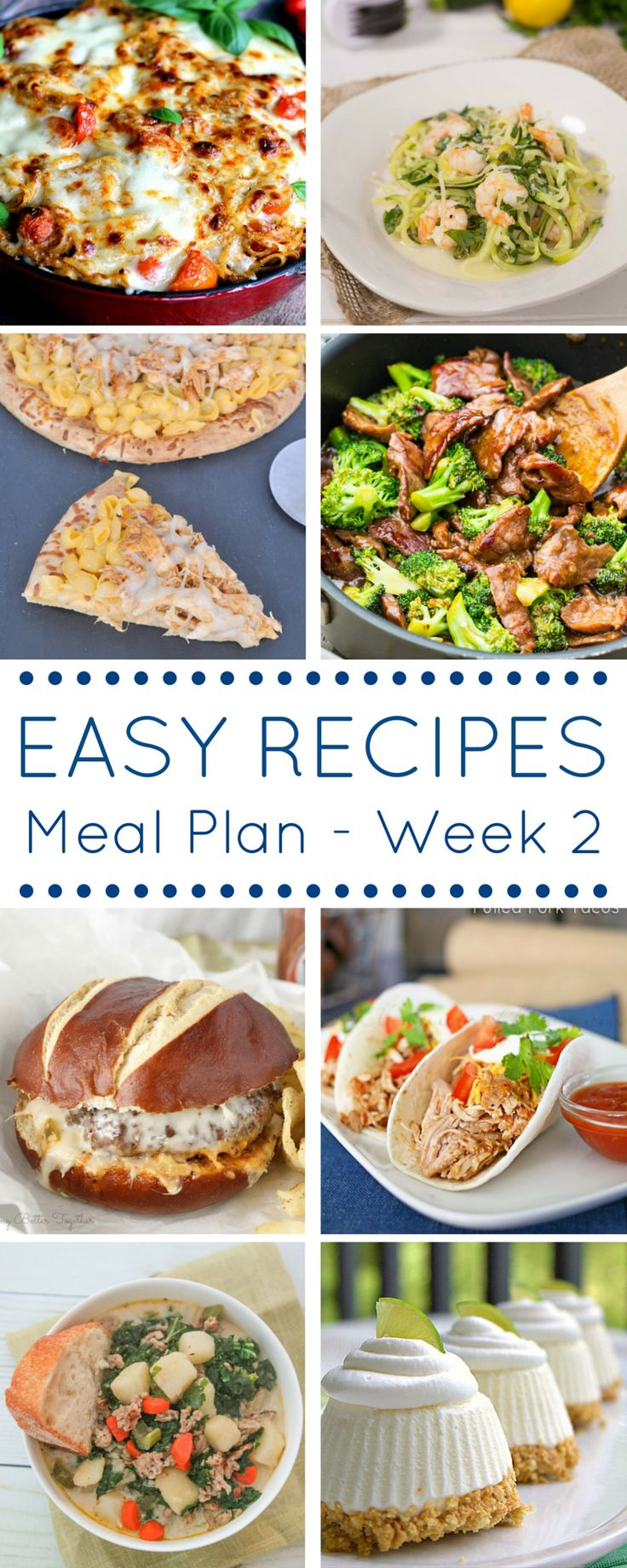 THE EASY DINNER RECIPES MEAL PLAN – WEEK 2 - With all the hustle that comes at dinner time, these easy dinner recipes are tried, tested & perfected by all these phenomenal bloggers for you. on kleinworthco.com