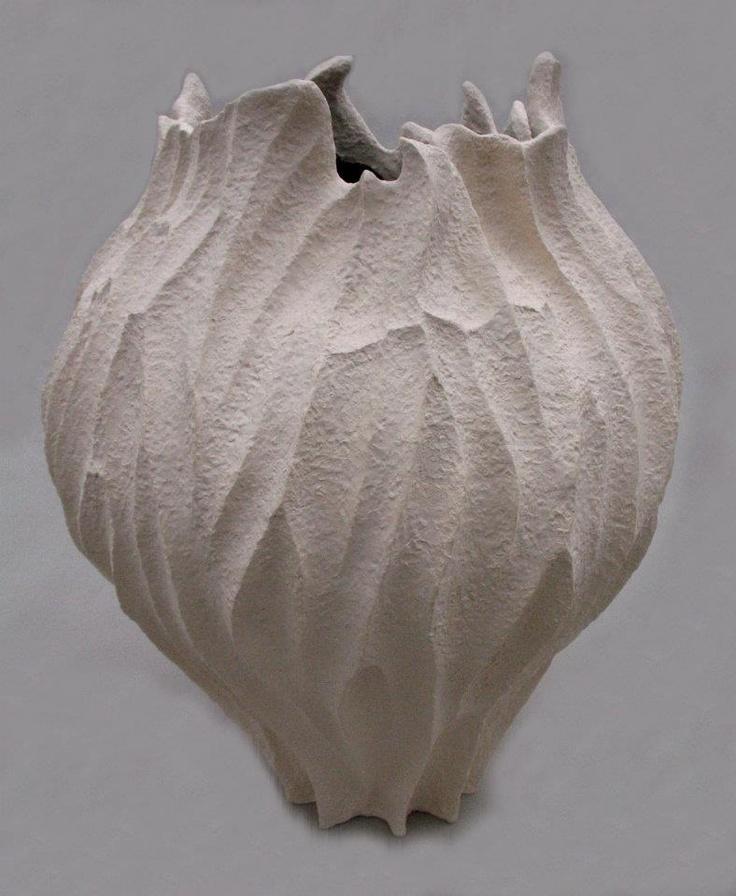 """Elizabeth Shriver  """"Large Coral Vase"""""""