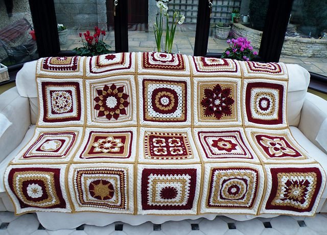 Ravelry: Maryfairy's 2012 BAMCAL Afghan - Gorgeous! Inspiration to use the granny patterns I have
