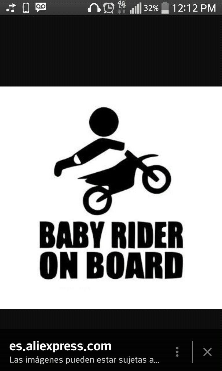 49 best dirtbike nursery images on pinterest dirtbikes dirt dirt bike baby rider on board kid baby son by vinylcreator on etsy