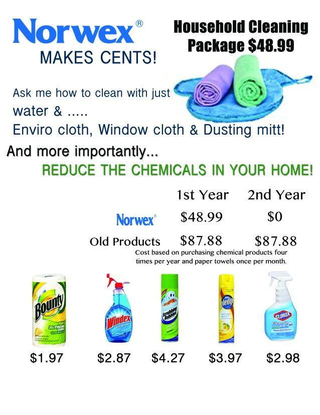Great ways to save money!  www.rondahoglund.norwex.biz