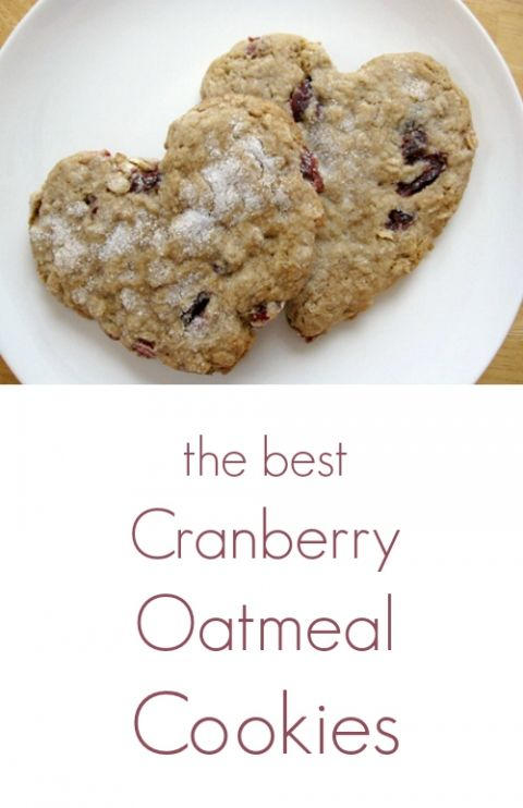 The Best Cranberry Oatmeal Cookies Recipe