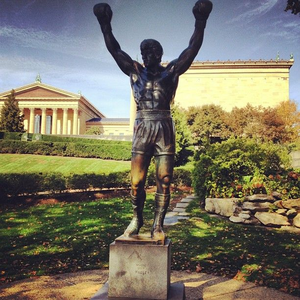 "The Rocky Statue and the ""Rocky Steps"" — better known as the Art Museum Steps — are two of the most popular attractions in Philadelphia. Visiting the statue, running up the steps, take a picture at the top is pretty much a must on your first visit to Philadelphia. It's a right of passage. FREE. http://www.visitphilly.com/museums-attractions/philadelphia/the-rocky-statue-and-the-rocky-steps/"
