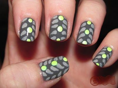 graphic neon, from The Daily Nail