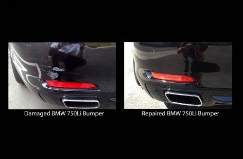 Repaired BMW 750Li Bumper | Mobile bumper & scratch repair at Auto Cosmetic Solutions