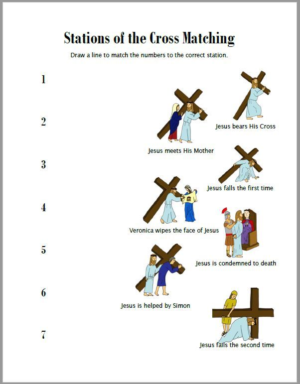 Stations Of The Cross Coloring Pages Worksheets Cross